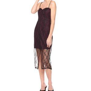 NWT BCBGENERATION Lace Midi Dress